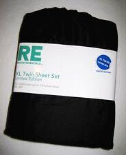 TWIN XL DORM - RE Room Essentials Black  SHEET SET