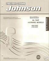 2002 JOHNSON OUTBOARD 60 & 70 HP 4 STROKE PARTS MANUAL