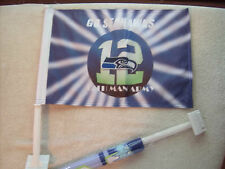 12th Man Seattle Seahawks Car Flag 12X18 Very Durable Hi-Way Strong