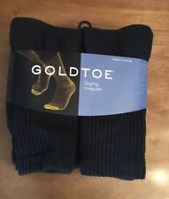 Gold Toe® Men's Black Cushion Cotton Crew, 6 Pair Gold Toe Sock