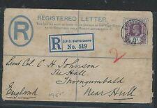 SIERRA LEONE (P3005B) 1911 QV  2D RLE UPRATED KE 3D FREETOWN TO ENGLAND