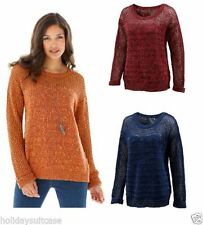 Cotton Blend Machine Washable Plus Size Jumpers & Cardigans for Women