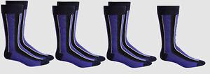 $98 Alfani Men's 7-Pair Pack Purple Vertical Stripe Dress Crew Socks Shoe 7-12