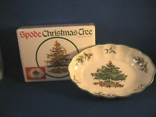 """SPODE CHRISTMAS TREE  DISH 5.5"""" In Box OVAL FLUTED DISH SMALL"""