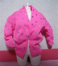 1985 Barbie Doll & the rockers 1st Ed Clothes 1980s-Pink/Silver Polka Dot Jacket