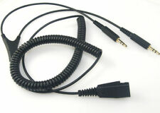 GN Netcom / JABRA COILED QUICK DISCONNECT PC CORD WITH Dual 3.5mm JACK - 1004831