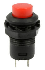 Red Off(On) Momentary Push Button Switch Horn Doorbell Car Dash 12V