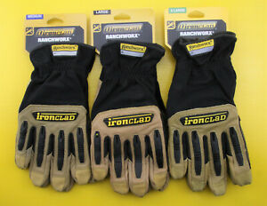 Ironclad Ranchworx RWG2 Impact Protection Leather Gloves ( L / XL )