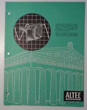 Vintage 1960s Altec Architectural Perfection 2pp Sales Brochure Amplifiers+