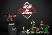PACK Dungeons & Dragons (Dragones y mazmorras) 10 Miniaturas FAN MADE NEW!!! D&D
