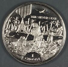 Isle of Man 2005 Silver Star and Battle Scene 1 Crown Coin