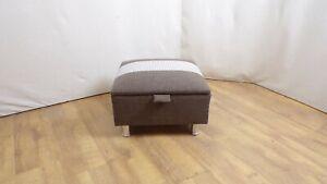 Opening top foot stool in brown/beige colour