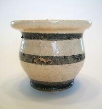 Folk Art Glazed & Decorated Studio Pottery Vase - Signed - Canada - 20th Century