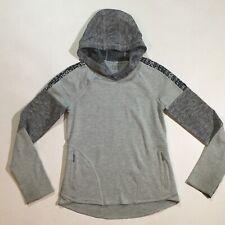 Athleta Girls Size 8 10 Medium Hooded Pullover Jacket With Thumbhole In Gray