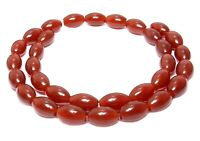 😏 Karneol Oliven in zwei Größen: 9x6 & 12x8 mm rote Edelsteinperlen Strang   😉