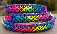 Purple Paracord Rainbow Dog Collar - Handmade to Measure - UNICORN!