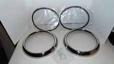 1951-1952-1953-1954-1955 Chevy Truck Stainless Headlight Bezel Kit,seals,clips