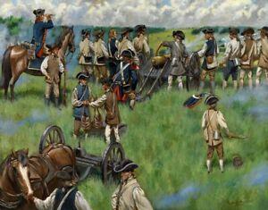 Mark Maritato Signed Revolutionary War Art Print Combs Hill Monmouth NJ 17x13