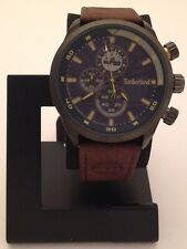 TIMBERLAND MENS NEEDHAM CHRONOGRAPH WATCH WITH BROWN LEATHER BAND TBL15901JYU03