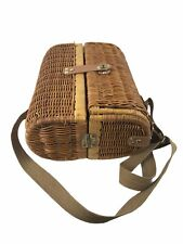 Picnic Time Wine Basket Two Compartments Outdoors Country Wicker