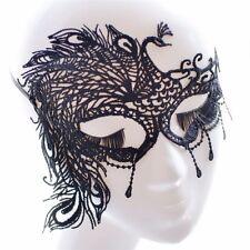 Máscara negra veneciana encaje pavo real despedida soltera sexy 50 sombras Grey