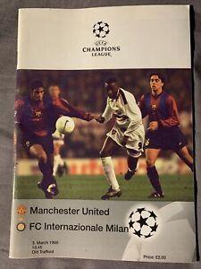 Manchester Utd v Inter Milan 1999 Champions League Quarter Finals Programme