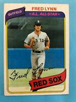 1980 Topps Card #110 Fred Lynn A.L. All-Star Boston Red Sox