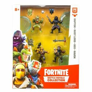 Fortnite 35639 Rex Rust Raptor Raven Squad Pack 4er Aktionfiguren Set Boti Epic