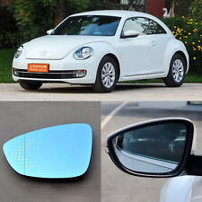Rearview Mirror Blue Glasses LED Turn Signal with Heating For Volkswagen Beetle