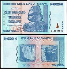 ZIMBABWE 100 TRILLION DOLLARS (P91r) 2008 ZA- REPLACEMENT UNC