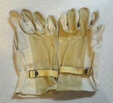 ARMY HEAVY DUTY CATTLEHIDE LEATHER WORK GLOVES - SIZE 4 - NEW AND UNUSED