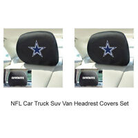 New 2pc NFL Dallas Cowboys Gear Car Truck Suv Van Headrest Covers Set