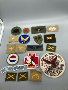 US Army USAF Military Patch Lot x55 SSI Branch Flash, Etc. E38