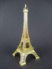 Eiffel Tower Paris France Souvenir Metal Model Golden 7 1/8in