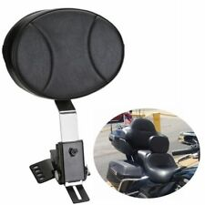 Adjustable Plug In Driver Rider Backrest Kit For Harley Touring FLTR FLHT FLHR