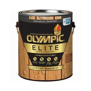 Elite Woodland Oil Stain & Sealant, Exterior, Mountain Cedar, 1-Gallon