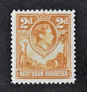 N. RHODESIA, KGVI, 1938, 2d. yellow-brown value, SG 31, LMM condition, Cat £50.