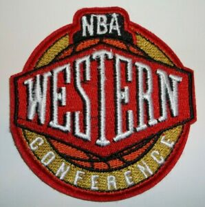 Western Conference Embroidered PATCH~3 1/2 x 3 1/4~Iron Sew On~NBA~Ships FREE