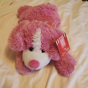Dan Dee Floppy Pink Puppy Dog Plush Stuffed Animal Love Bow Plush/Tags
