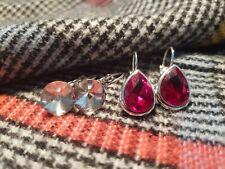 Ohrringe Rot und Kristall