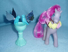 Rare My Little Pony Secret Surprise 'Wingsong' Bird Bath 2 Birds Magnetic EUC!