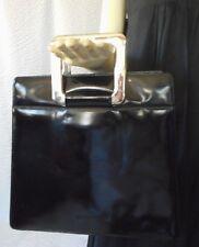 Sergio Rossi Kelly Style Black Leather Handbag