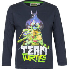 Pullover Langarmshirt Jungen Ninja Turtles grau blau orange 98 104 116 128 #144