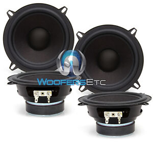 "4 PIECES FOCAL OEM 5.25"" MIDRANGES 4 OHM CAR AUDIO SPEAKERS MIDS 2 PAIRS NEW"