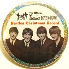 The Beatles Band JUMBO PIN -Christmas Club Tribute HOLOGRAM BUTTON Stocking stuf