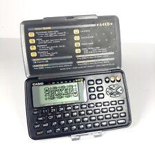 Diario Digital Casio SF-4600B Hora Mundial de recordatorio de juego de póquer PDA Vintage De Mano