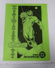 Green Lantern promo flyer - green paper (DC Comics 1983) Wein Gibbons