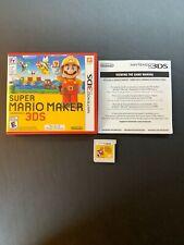 Super Mario Maker (Nintendo 3DS, 2016) Complete US/Canada