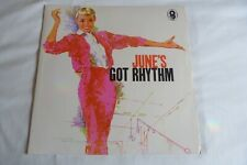 JUNE CHRISTY - JUNE'S GOT RHYTHM - LP RECORD  - WORLD SOUND T 528 - IMMACULATE!
