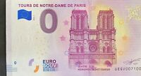 BILLET 0 EURO TOURS DE NOTRE DAME DE PARIS FRANCE 2018  NUMERO 7100